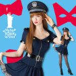 ハロウィン仮装用衣装 婦警 ミニスカポリス police